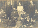 The Godber family with Isaac and his wife, Bessie, seated in the centre